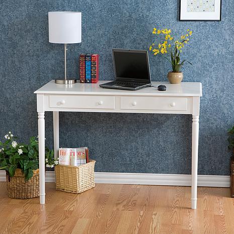 Crisp White 2 Drawer Writing Desk 6408545 Hsn