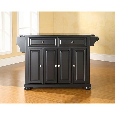 black granite top kitchen island solid black granite top kitchen island 10069272 hsn 7877