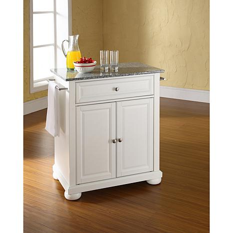 Crosley Alexandria Solid Granite Top Portable Kitchen Island