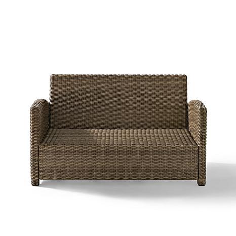 ... Crosley Bradenton Outdoor Wicker Loveseat   Sand ...