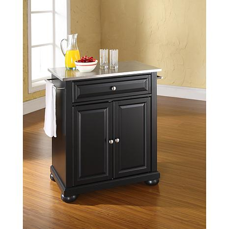 Crosley Stainless Steel Top Portable Kitchen Island