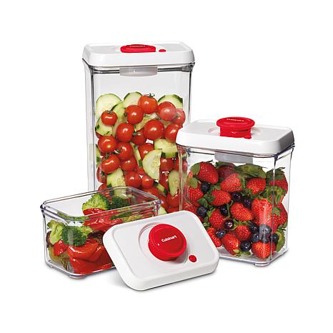 Cuisinart 6 piece Fresh Edge Vacuum Food Storage 10075310 HSN