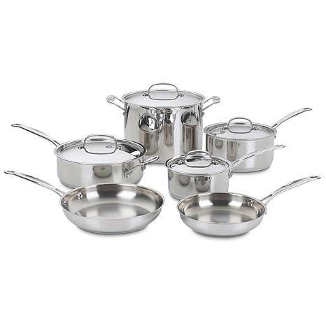 Cuisinart Chef's Stainless 10-Piece Cookware Set
