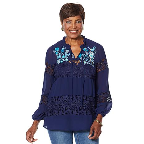 Curations Artisan Lace Blouse