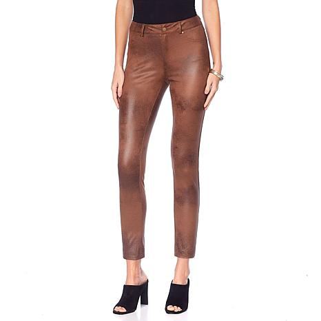 Curations Coated Faux Suede Slim Pant