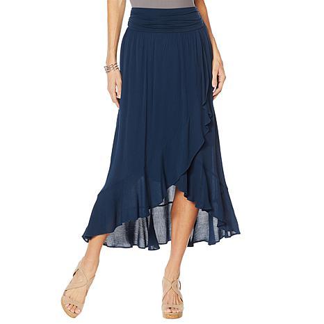 Curations Gauze Wrap Skirt