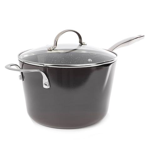 Curtis Stone Dura-Pan Nonstick 4.5qt Covered Saucepan