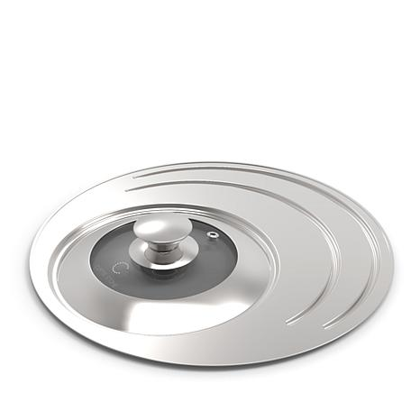 """Curtis Stone Stainless Steel 8""""/10""""/12"""" Frypan Lid"""