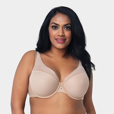 curvy-couture-diamond-net-underwire-push-up-bra by curvy-couture