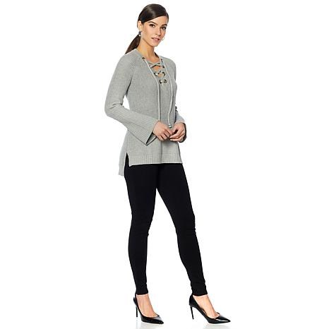 9dde7c8bd1 Daisy Fuentes Lace Up Sweater - 8610500