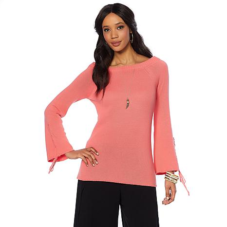 Daisy Fuentes On/Off Shoulder Knit Top