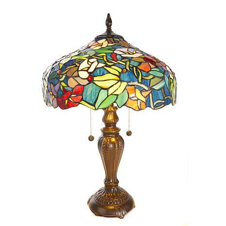 Dale Tiffany Izabella Tiffany Style Stained Glass Table Lamp