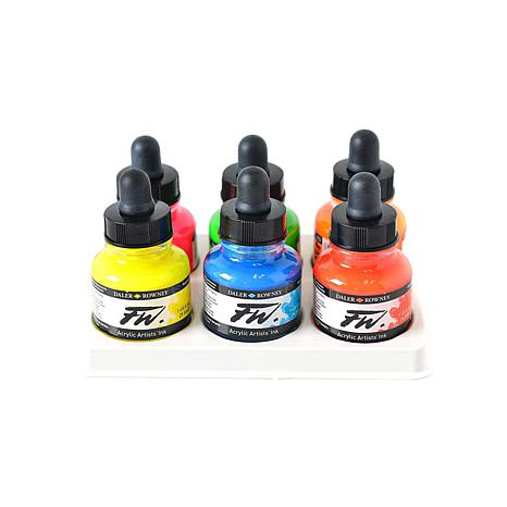 Daler-Rowney FW Artists' Ink Fluorescent Set of 6