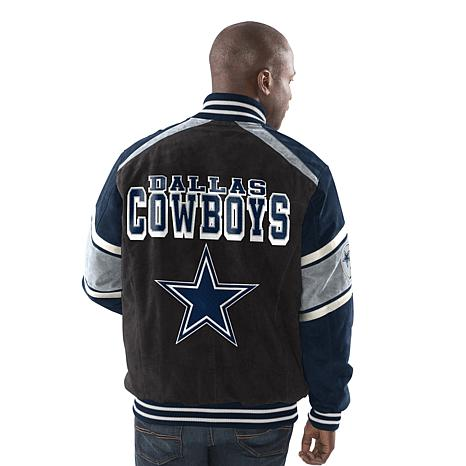 detailed pictures f0819 5889e Dallas Cowboys Colorblocked Suede Jacket