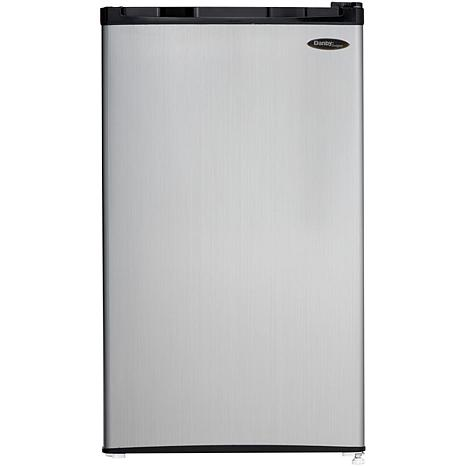 Danby 3.2 CF Refrigerator/Freezer - Black/Steel Door