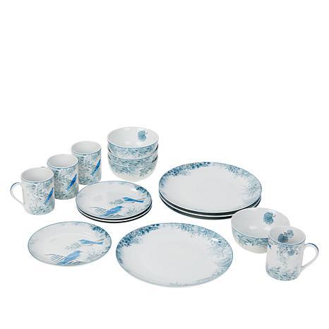 Darbie Angell Birds of a Feather 16-piece Porcelain Dinnerware Set