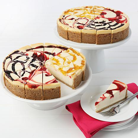 """David's Cookies Set of 2 10"""" 4.25 lb. Fruit Flavored Cheesecakes AS"""
