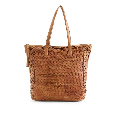 Day & Mood Jamie Genuine Leather Tote - Cognac