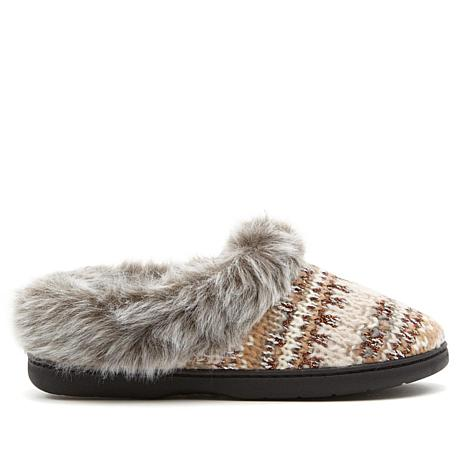 Dearfoams Fair Isle Chunky Knit Slipper - 8450479 | HSN