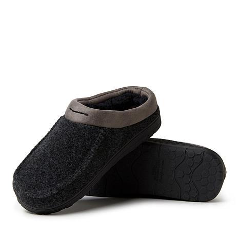 Loft Living Men/'s Memory Foam Brown Faux Pebble Leather Clog Slippers