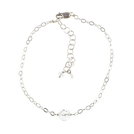 "Deb Guyot 6.13ct  Herkimer ""Diamond"" Quartz 9"" Anklet"