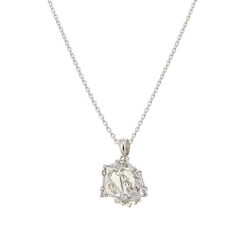 "Deb Guyot Designs Herkimer ""Diamond"" Quartz Caged Pendant with Chain"