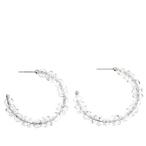 Deb Guyot Designs Herkimer Quartz Hoop Earrings