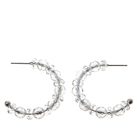 Deb Guyot Designs Herkimer Quartz Petite Hoop Earrings