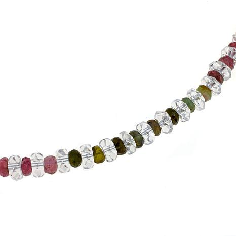"Deb Guyot Herkime Quartz and Tourmaline 18"" Necklace"