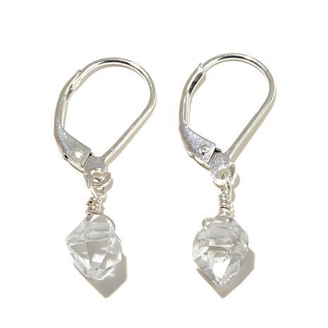 "Deb Guyot Herkimer ""Diamond"" Quartz ""Cici"" Earrings"