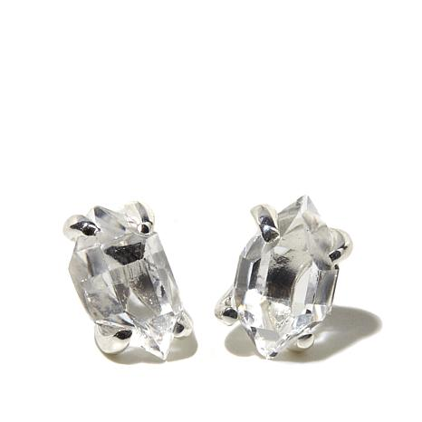 "Deb Guyot Herkimer ""Diamond"" Quartz Stud Earrings"