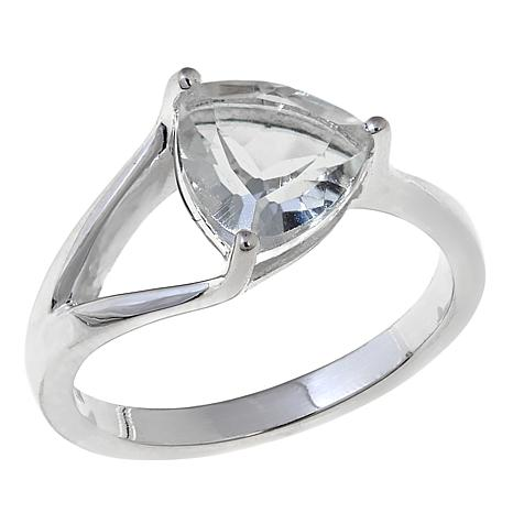 "Deb Guyot Herkimer ""Diamond"" Quartz Trillion-Cut Ring"