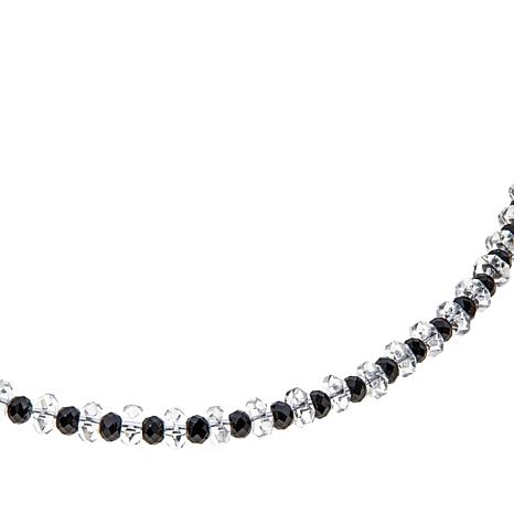 "Deb Guyot Herkimer Quartz and Black Spinel 17"" Necklace"