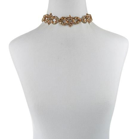"deepa by Deepa Gurnani® ""Elias"" Stone Choker Necklace"