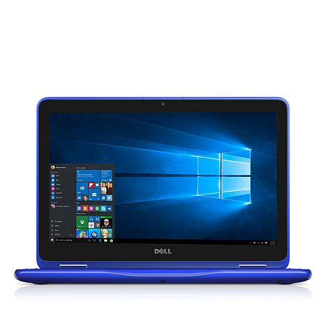 "Dell Inspiron 11.6"" Touch 4GB RAM 500GB HDD Convertible Laptop - Blue"