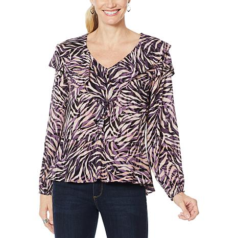 Democracy Printed Woven Blouse