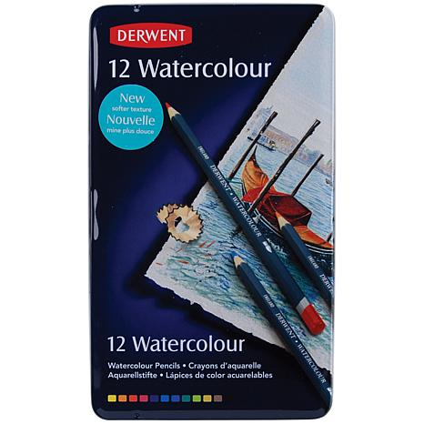 Derwent Watercolor Pencil Tin 12 Piece Set