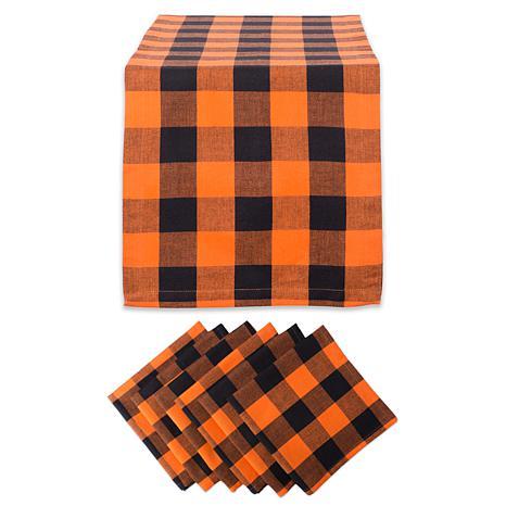 Design Imports 7-piece Buffalo Check Table Set