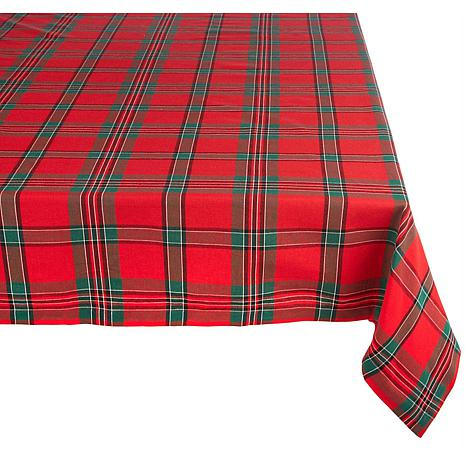 Design Imports Holiday Plaid Tablecloth 60-inch by 120-inch