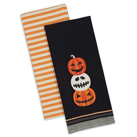 Design Imports Jack O'Lantern Kitchen Towel Set of 2