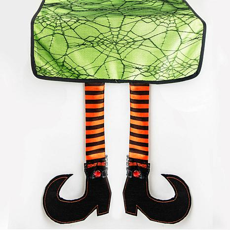 Design Imports Witch Legs Halloween Table Runner