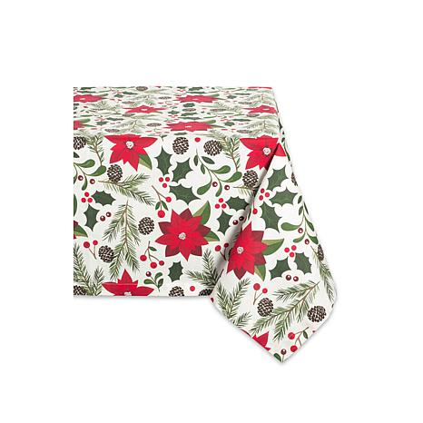 Design Imports Woodland Christmas Print Tablecloth 52-inch x 52-inch