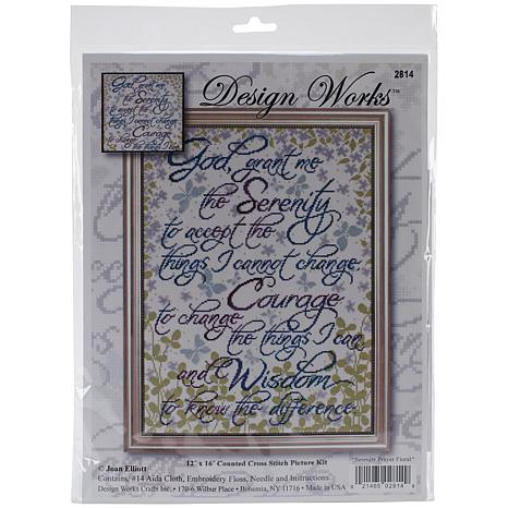 Design Works Counted Cross Stitch Kit - Serenity Prayer (14 Count)