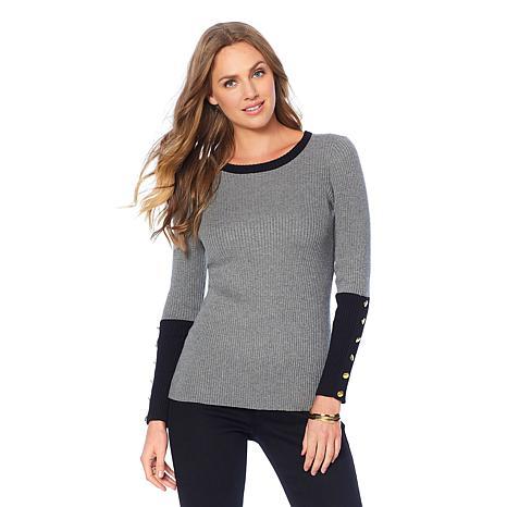 DG2 by Diane Gilman Quad Blend Colorblock Sweater