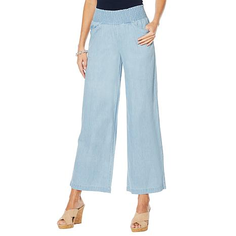 DG2 by Diane Gilman Smocked Palazzo Pant