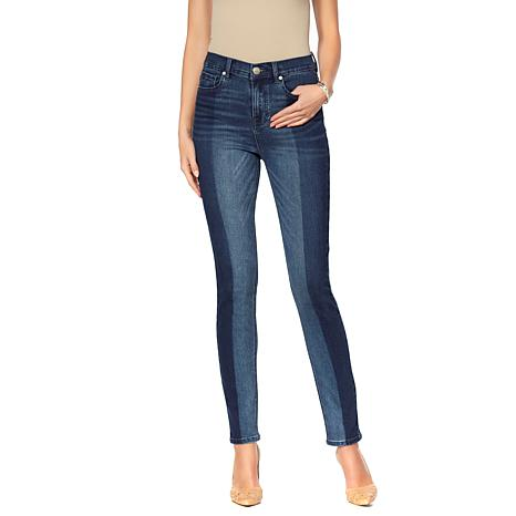 DG2 by Diane Gilman Virtual Stretch Colorblock Skinny Jean
