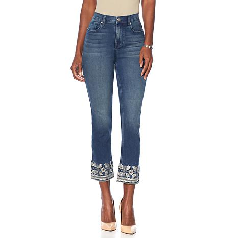 DG2 by Diane Gilman Virtual Stretch Marrakesh Embroidered Cropped Jean
