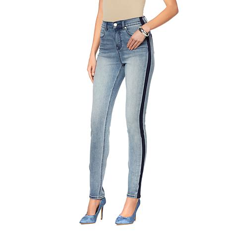DG2 by Diane Gilman Virtual Stretch Side Stripe Skinny Jean