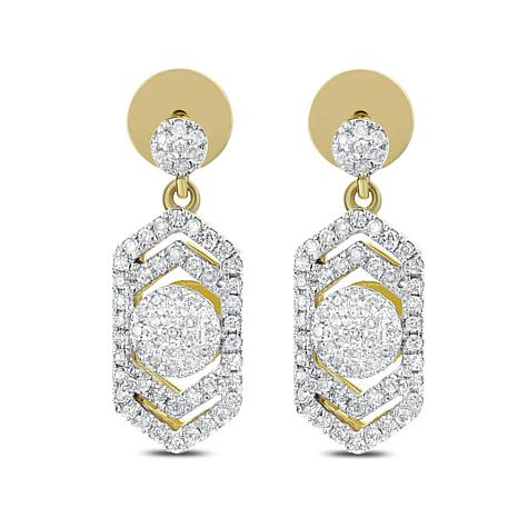 "Diamond Couture 0.4ctw Diamond ""Art Deco"" Drop Earrings"