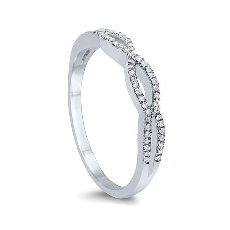 Diamond Couture 14K Gold 0.2ctw Diamond Stackable Ring
